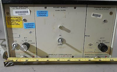 Endevco Power Supply Rack 2629b W Charge Amplifiers 2710am13 2710am14