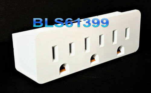 3-Way Electric Outlet Power Splitter Triple AC Wall Plug Electrical Adapter Tap