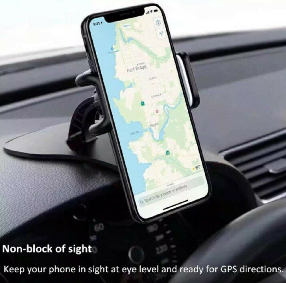 Universal Car Dashboard Phone Clip Holder Mount Stand Cradle HUD Design US Cell Phone Accessories