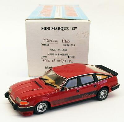 Minimarque 43 1/43 Scale Model Car UK12A - 1983 Rover Vitesse - Monza Red