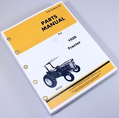 Parts Manual For John Deere 1520 Tractors Catalog Assembly Exploded Views