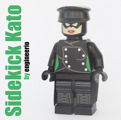 Custom - Kato female - Super heroes minifigures dc Green Hornet on lego bricks