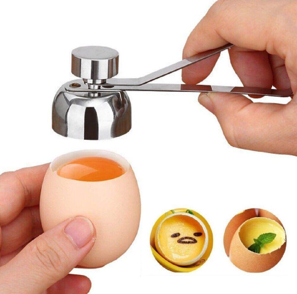 Stainless Steel Egg Shell Opener Topper Cutter Cracker Knock