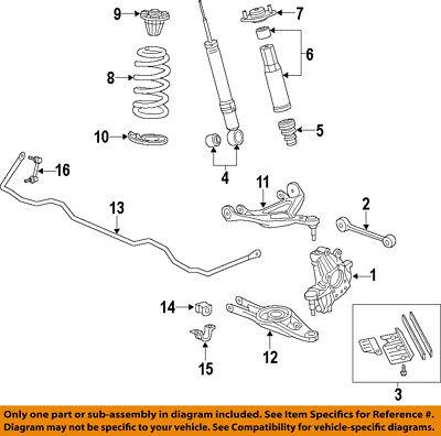 09-12 Acura HONDA RL Stabilizer Sway Bar Rear Link OEM 52321SJA013 52321-SJA-013