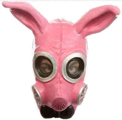 Kinky Killer Bunny Gas Mask Apocalypse Cosplay Anime Pink Adult Latex Mask - Anime Latex