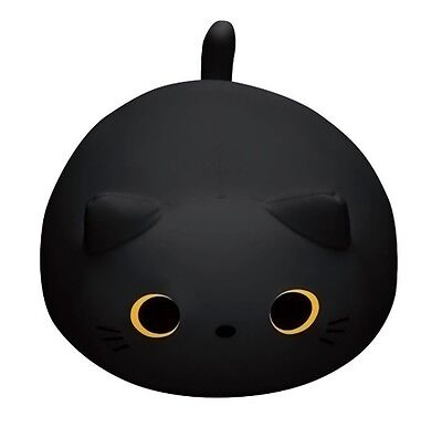 Cat Mogutchimitan Cushion Black MOGU