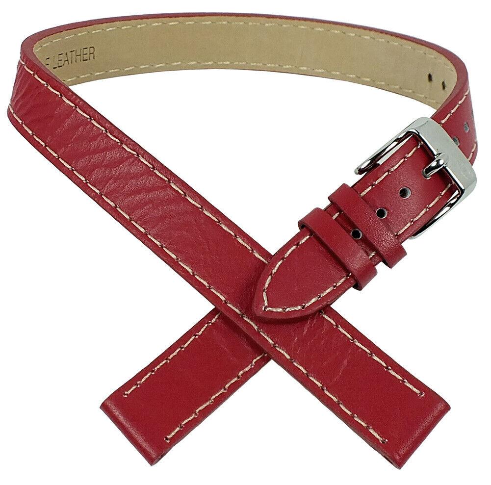 Tom Tailor Wickel-Uhrenarmband 14mm Leder rot für Modell 5406702