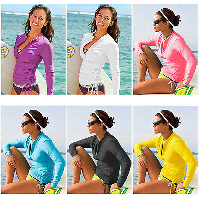 Lynddora Women's UV Sun Protection Long Sleeve Rash Guard We