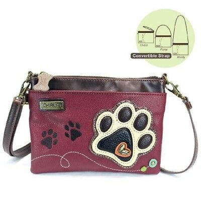 (Charming Chala Puppy Dog Paw Print in Beige Mini Crossbody Bag Handbag Purse)