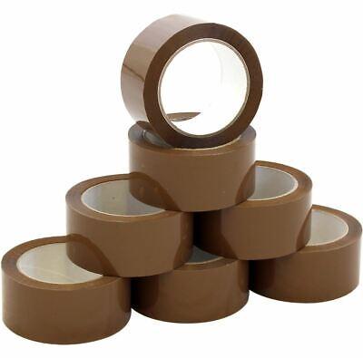 6 Rolls Brown Carton Sealing Packing Shipping Tape 2 2.0 Mil 110 Yards 330