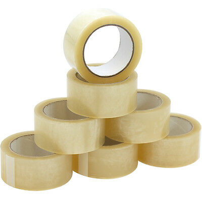 144 CLEAR STRONG PARCEL SEALING PACKAGING PACKING TAPE ROLLS 50MM x66M SELLOTAPE
