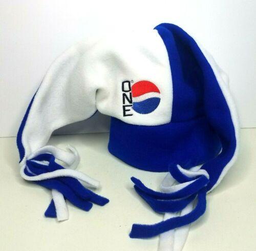 Vintage PEPSI ONE Hat Blue White Fleece Jester Promo Logo NOS Unused RARE!