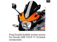 Honda cbr 125 double bubble screen 2011-2016