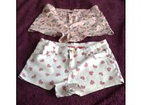 2 Pairs of Mini Shorts - size 8