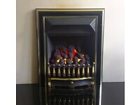 Valor Visage Fireslide 4.0 kw Coal Effect Inset Gas Fire ( Black/Brass )