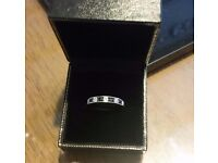 FOR SALE 18ct White Gold Sapphire/Diamond Eternity/Engagement Ring.