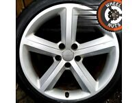 """18"""" Genuine Audi A4 A5 S Line alloys good cond excel tyres."""