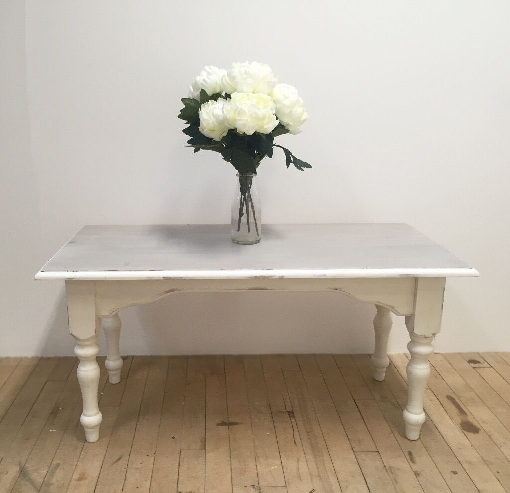 Lime Wash Coffee Table Lime Wash And Chalk Paint Pine Coffee Table In Salisbury