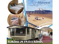 Caravan to hire Haven Cleethorpes Thorpe park 1 double 2 twin 8 berth