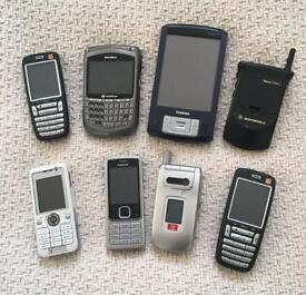 Assorted old mobile phones