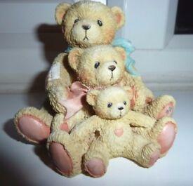 """Cherished Teddies """"Theadore, Samantha & Tyler"""" 1991 £5"""