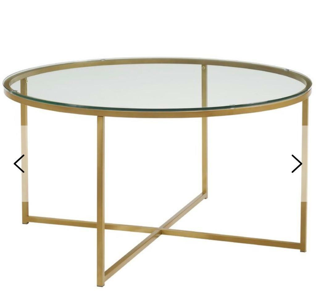 Wayfair Gold And Glass Top Coffee Table In Islington London Gumtree - Wayfair glass top coffee table