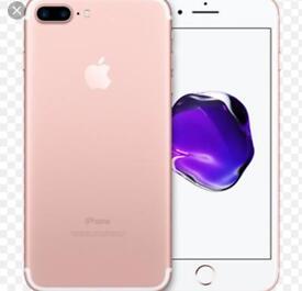 iPhone 7 plus rose gold ee