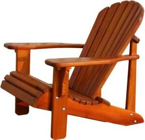Heavy duty red cedar Adirondack Muskoka chairs - Free Shipping