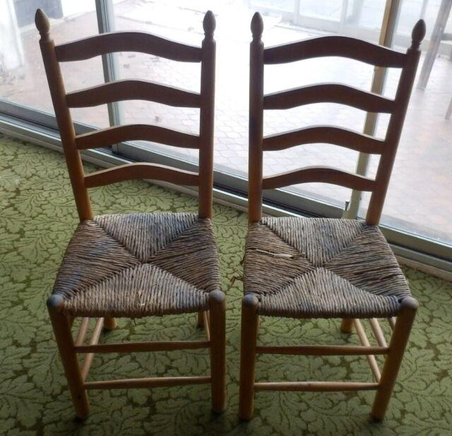 Pleasant Wooden Ladder Rack Raffia Vintage Chairs 1960 70S In Barnet London Gumtree Pdpeps Interior Chair Design Pdpepsorg