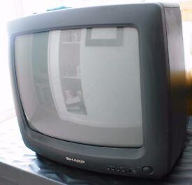 Sharp Portable colour TV in full working order
