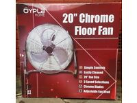 "20"" Chrome floor Fan (brand new)"