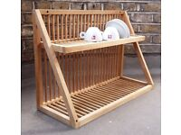 Wood / Wooden plate drying rack drainer from Heals