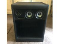 Faux Leather Black Bedside Cabinets with Bluetooth Speakers