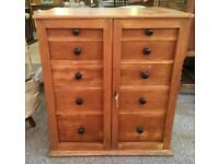 Pine Collector's Cabinet