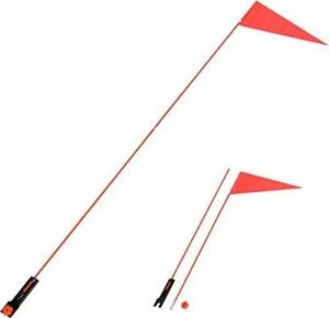 Fanion de securite pour velo / 5 Ft. Safety Flag with Bicycle Mounting Bracket