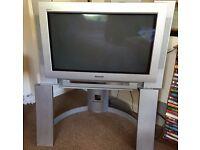 """Panasonic TV 34"""" with stand and remote- VGC still working"""