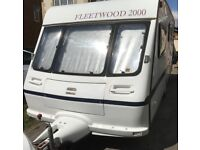 Fleetwood Colchester 500-EB 4 berth touring caravan WITH Full awning