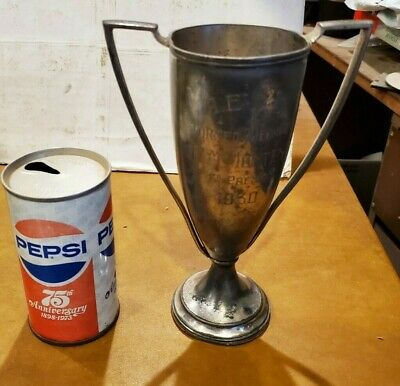 Antique Loving Cup Trophy Silverplate 1930 Chess Tournament Torneo Ajedrez 1st