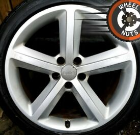 "18"" Genuine Audi A4 A5 S Line alloys good cond excel tyres."