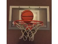 Spalding mini basketball hoop and ball