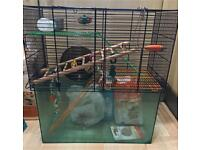 Large cage with bundle accessories for hamster/small animals