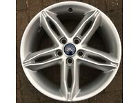 GENUINE FORD FOCUS 17 INCH ALLOYS IN GOOD USED CONDITION.