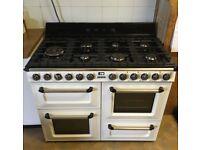 SMEG 'Victoria' Duel Fuel Range Cooker - Cream and Black