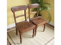Superb pair of 19th Century Welsh Oak Chairs Carmarthenshire Antique