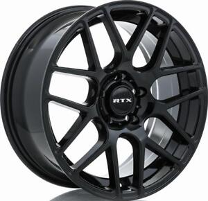 "RTX 17"" Wheel Set Honda Civic Accord Mazda Subaru Impreza WRX Nissan Hyundai Elantra Sonata Wheels Mag Noir Black Rims"