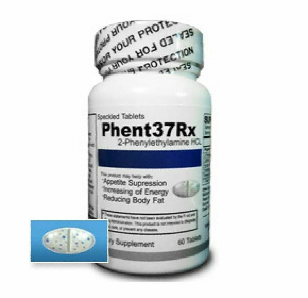 (1) Bottles Phent37Rx [60 Tablets] Fat Burner Appetite Suppressant