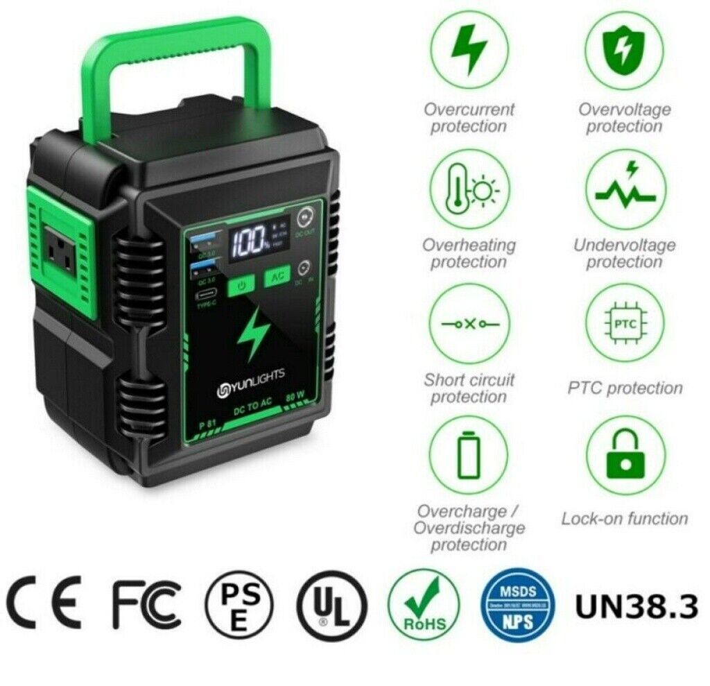 portable 74wh power bank station generator inverter