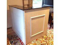 Wooden Granite Top High Reception Desk - MUST GO ASAP !