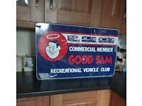 Vintage Good Sam RV members club sign