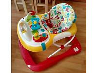 ABC baby walker, as new, lights/sounds babywalker